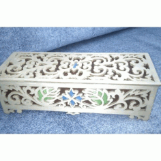 Laser Cut Decorative Box With Lid Template Free CDR Vectors Art