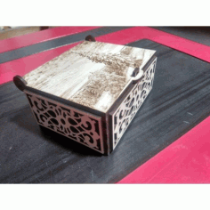 Laser Cut Engraved Decorative Box With Lid Free CDR Vectors Art
