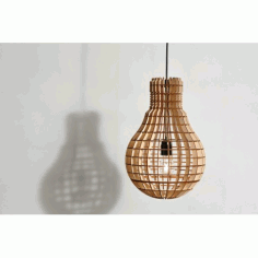 Laser Cut Light Bulb Shape Lamp Free CDR Vectors Art