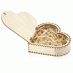 Laser Cut Living Hinge Wooden Jewelry Box Free CDR Vectors Art