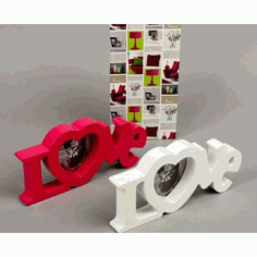 Laser Cut Love Heart Photo Frames Free CDR Vectors Art