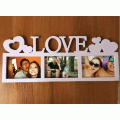 Laser Cut Love Photo Frames Free CDR Vectors Art