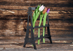 Eiffel Tower Flower Holder Free CDR Vectors Art