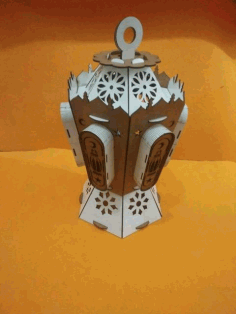 Laser Cut Islamic Wooden Ramadan Lantern Free CDR Vectors Art