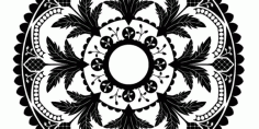 Laser Cut Mandala Decorative Design Free CDR Vectors Art