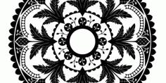 Laser Cut Mandala Decorative Design Free CDR Vectors Art