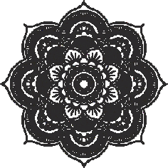 Laser Cut Mandala Logo Free CDR Vectors Art