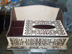 Laser Cut Organizer With Tissue Box Free CDR Vectors Art