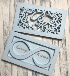 Laser Cut Wedding Box For Engagement Rings Free CDR Vectors Art