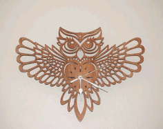 Owl Clock Design Free CDR Vectors Art