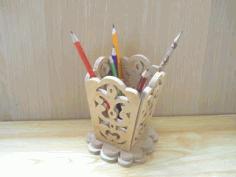 Pencils Holder Free CDR Vectors Art