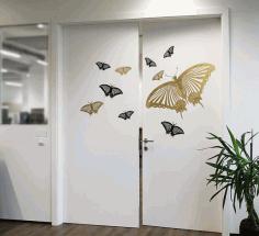 Wall Sticker Butterfly Free CDR Vectors Art