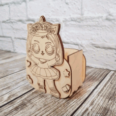 Laser Cut Organizer Pen Holder For Kid Free CDR Vectors Art