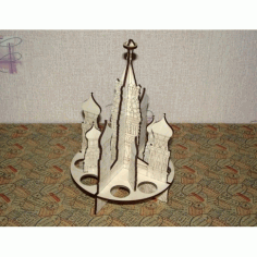 Laser Cut Russia Saint Basil Cathedral Free CDR Vectors Art