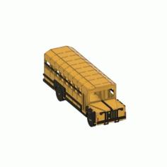 Laser Cut School Bus Template Free CDR Vectors Art
