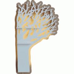 Laser Cut tree-shaped Shelf Free CDR Vectors Art