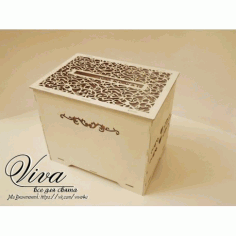 Laser Cut Wedding Favor Box Free CDR Vectors Art