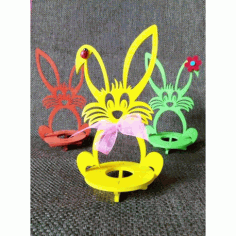 Laser Cut Wooden Easter Bunny Rabbit Free CDR Vectors Art