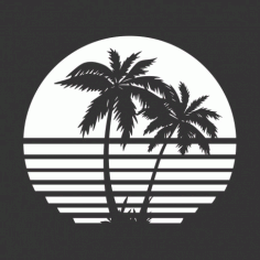 Palm Tree Vector For Laser Cutting Free CDR Vectors Art
