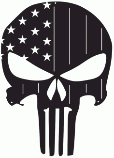 American Flag Punisher Skulls For Silhouette Free DXF File
