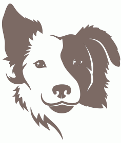 Border Collie Dog Free DXF File