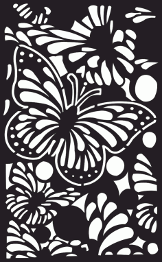 Butterfly Wood Partition Free DXF File