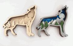3d Wolf Tree Creativity Designs Free CDR Vectors Art