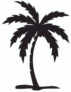 Palm Tree Silhouette Download Free CDR Vectors Art