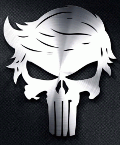 Trump Punisher Skulls For Silhouette Free DXF File