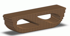 Cnc Laser Cut Parametric Bench Design Free DXF File