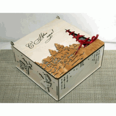 Laser Cut Christmas Box Free CDR Vectors Art