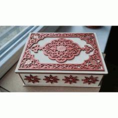 Laser Cut Decorative Jewelry Box Free CDR Vectors Art