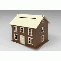 Laser Cut House Small Bank Free DXF File