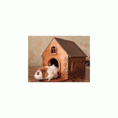 Rabbit Wooden House Free DXF File