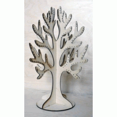 Laser Cut Plywood Tree For Decorations Free CDR Vectors Art