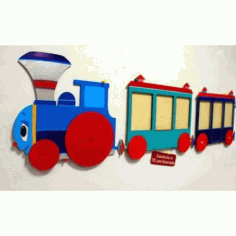 Laser Cut Train Template Free CDR Vectors Art
