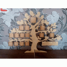 Laser Cut Tree Family Frame Free CDR Vectors Art