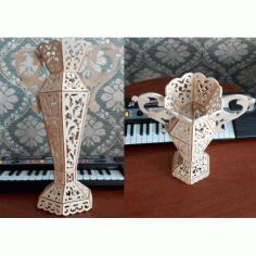 Laser Cut Vase Template Free CDR Vectors Art