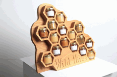 Wild Hives Wooden Storage Rack Free DXF File