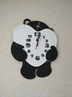 Laser Cut Bear Wall Clock Free DXF File