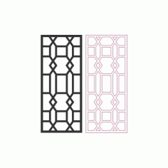 Beautiful Living Room Partition Pattern Free DXF File