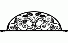 Ironwork Arch Flower Design Free DXF File