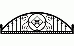 Ironwork Arch Semi Round Design Free DXF File