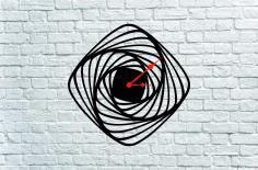 Chasy Spiral Clock Laser Cut Project Idea Free CDR Vectors Art