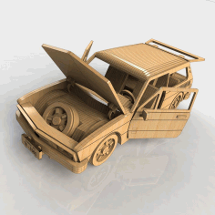 Laser Cut Wooden Car Diy 3d Puzle Free CDR Vectors Art
