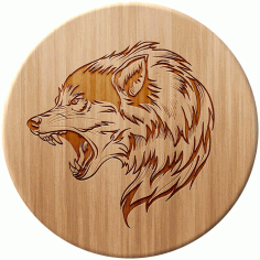 Wolf Laser Wood Engraving Format Free CDR Vectors Art