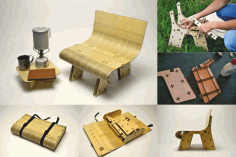 Amazing Laser Cutter Projects Plywood Adjustable Chair Free DXF File