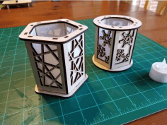 Candle Holder Lantern Laser Cut Ideas Download Free DXF File