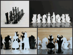 Cnc Chess Set Plans Laser Cut Free DXF File