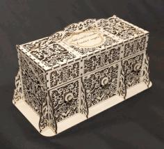 Cnc Laser Cut Beautiful Wooden Box Free DXF File